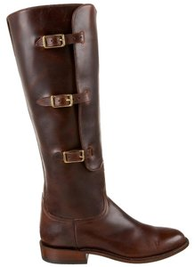 Lucchese Leather Riding Luxury Equestrian Handcrafted Chocolate Boots