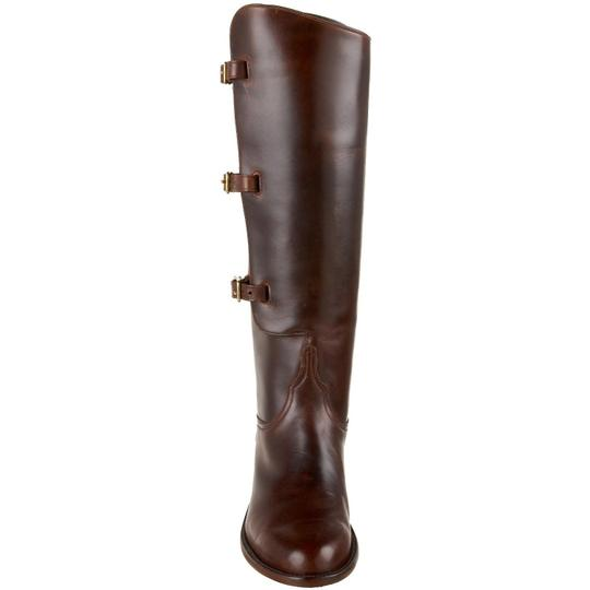 Lucchese Leather Polo Riding Equestrian Knee High Chocolate Boots