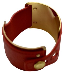 BCBGeneration Coral and Gold Cuff Bracelet