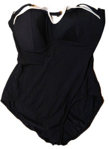 Bleu Rod Beattie New Bleu Rod Beattie One Piece Swimsuit Bathing Suit Black White Size 18 P1950