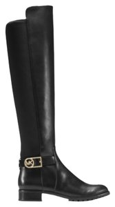 Michael Kors Leather Stretch New Black Boots