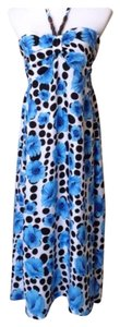 Blue/Black/White Maxi Dress by ceresi