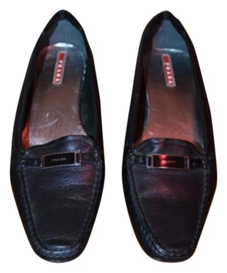 Prada Kitten Loafer Work Blac Pumps