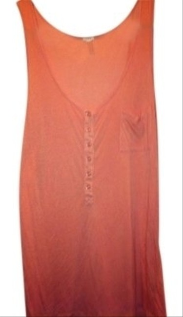 J.Crew Soft Pale 10 M Summer Must 10 M Medium Summer Tee Coverup Pale Soft Henley Style Buttons Swing Swing Shirt Top Light Orange Tangerine