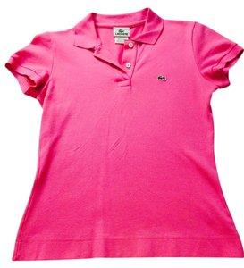 Lacoste Button Down Shirt Hot Pink