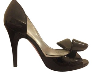 Paris Hilton Patent Black Pumps