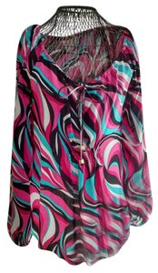 Michael Kors Silk Longsleeve And Boho Hippie Top Pink Turquoise Black White
