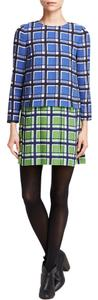 Marc Jacobs short dress Green Blue By Toto Plaid Crepe Skipper Blue Green Small on Tradesy