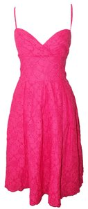 Lilly Pulitzer short dress Pink Eyelet Scalloped Corset on Tradesy