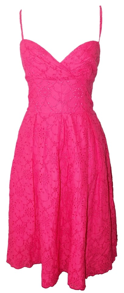 69be51cfe3f4a Lilly Pulitzer short dress Pink Eyelet Scalloped Corset Spaguetti Straps  Sundress on Tradesy Image 0 ...