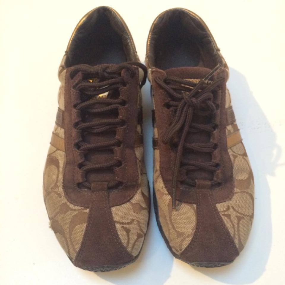 46c24ad82b5b clearance gold and tan coach sneakers 941d2 3652e  coupon code for coach  brown gold katelyn sneakers f6807 c7339