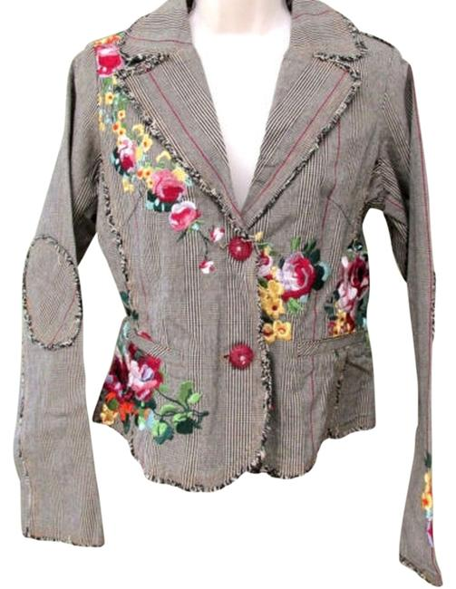 Paparazzi Embroidered Embellished Tweed Floral Blazer