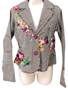 Paparazzi Embroidered Embellished Tweed Blazer
