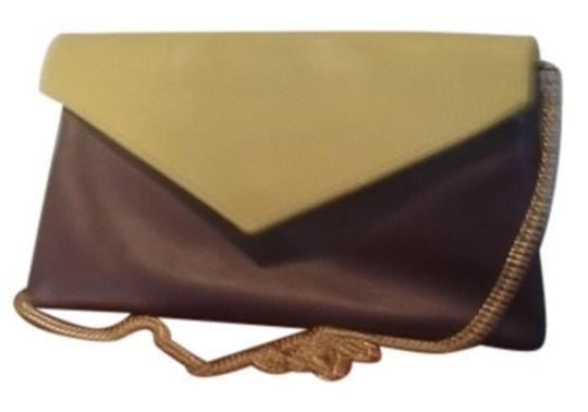Preload https://item4.tradesy.com/images/colorblock-brown-and-yellow-italian-leather-clutch-10530193-0-2.jpg?width=440&height=440