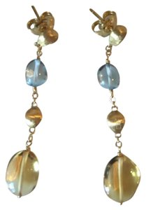 "Marco Bicego Marco Bicego Gold & Precious Stone 2"" Long Earrings"