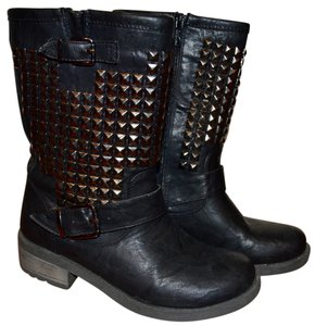 Wanted Black Studded Boots