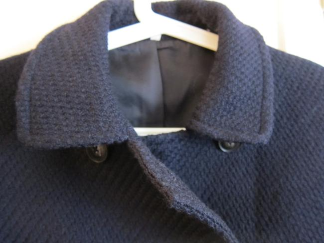 Muji Navy Mid-length Classic Double-breast Coat Size 4 (S) Muji Navy Mid-length Classic Double-breast Coat Size 4 (S) Image 4