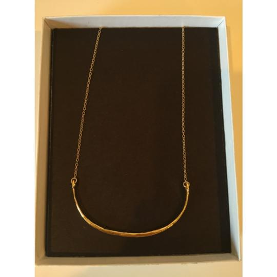 Bloomingdale's Gold Arch Moon Necklace