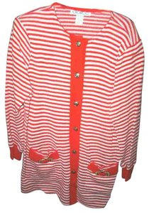 Dolce&Gabbana Dolce Sz S Knit Skirt Suit, Striped Red/ White
