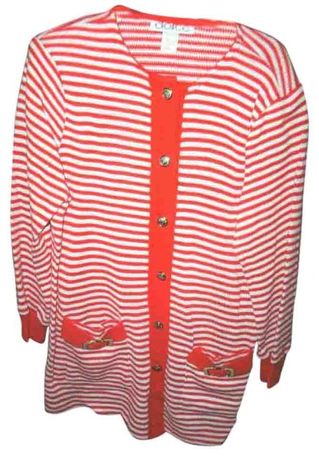 Item - Red and White Dolce S Striped Red/ Skirt Suit Size 6 (S)