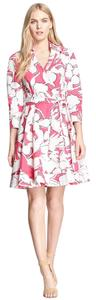 Diane von Furstenberg short dress Pink Wrap Floral Jadrian on Tradesy