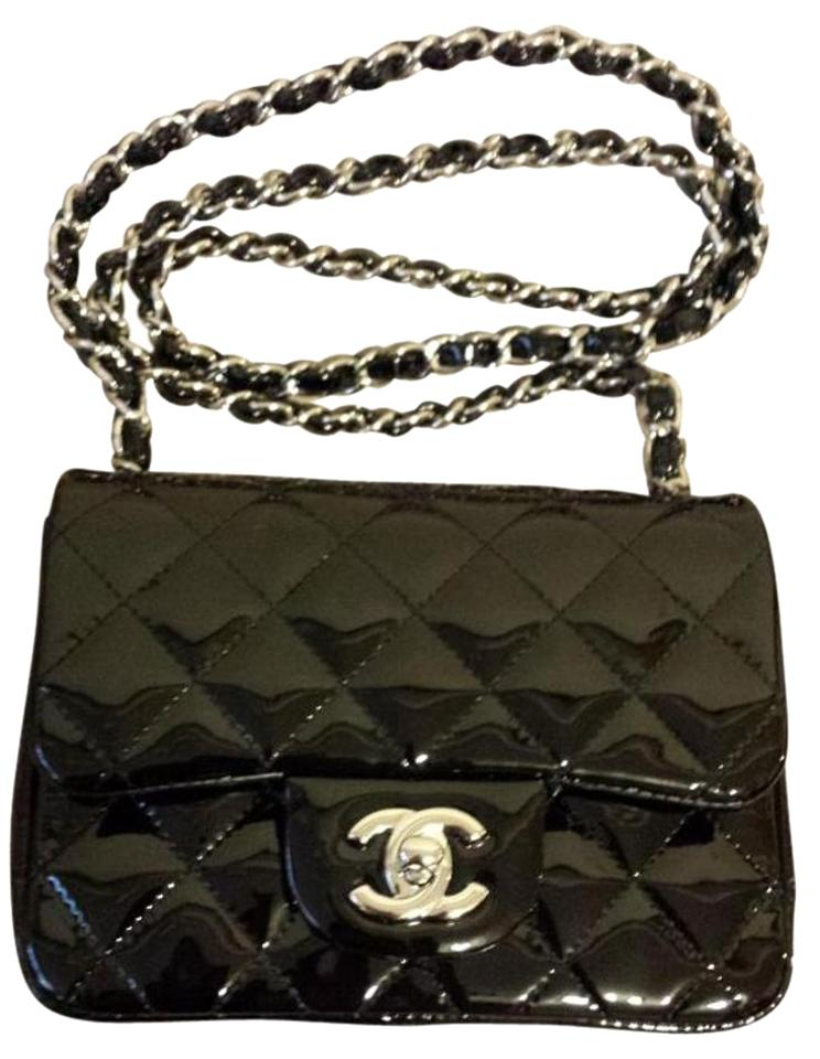 aa4237b674abd7 Chanel Classic Flap Quilted Square Mini Excellent Cross Body Black ...