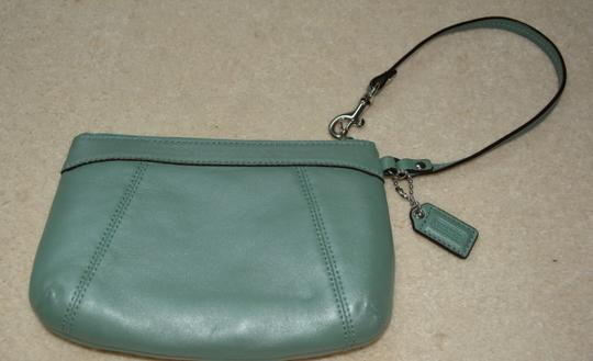 Coach Wristlet in Mint/Teal