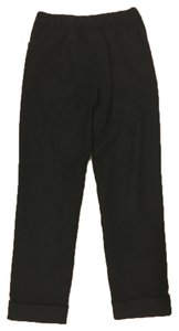 Uniqlo Wide Leg Cashmere Wool Wide Leg Pants Black