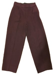 Zara J Brand Rag & Bone Wide Leg Pants Burgundy