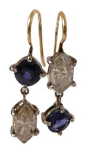 Renee Lewis Rare RENEE LEWIS 18k gold Diamond and Sapphire Earrings