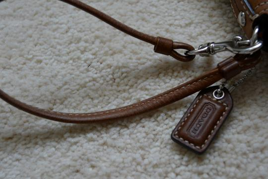 Coach Wristlet in Brown/Khaki