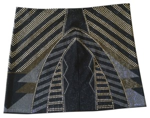 ANGL Mini Skirt Black, gold, silver