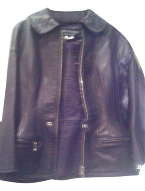 Preload https://item1.tradesy.com/images/junya-watanabe-black-made-in-japan-awesome-leather-jacket-coat-size-6-s-10533610-0-1.jpg?width=400&height=650