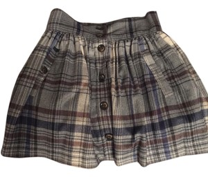 French Connection Mini Skirt Blue plaid