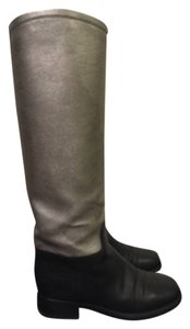 Chanel Riding Boot Flat Blac Boots
