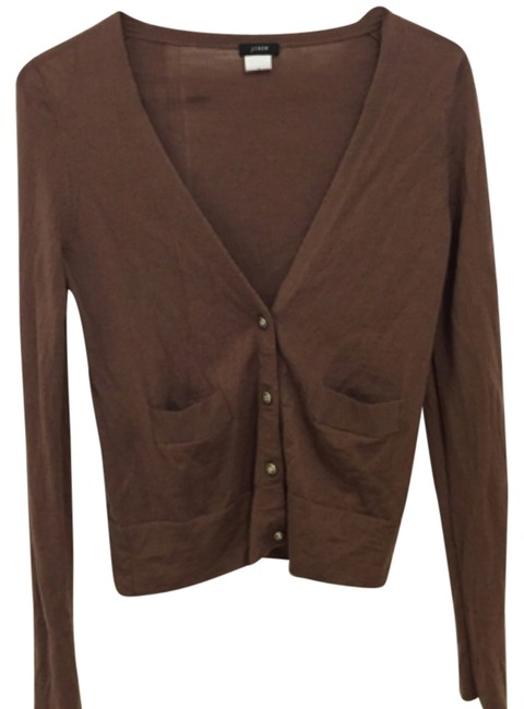 Item - Brown Cardigan Size 4 (S)