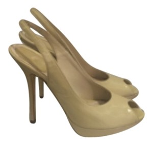 Dior Pump Slingback Heels Stiletto Beige Pumps