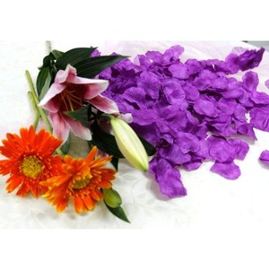 3500x Purple Voilet Silk Rose Petals Wedding Bridal Party Flower Decoration Table Top Centerpieces Decor