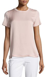 Theory Satin Pullover Short Sleaves T Shirt Blush