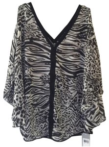 Guess Top Black, white