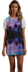 Finders Keepers short dress White/black/purple/blue on Tradesy