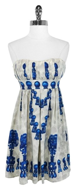 Preload https://img-static.tradesy.com/item/1053520/nanette-lepore-silver-and-blue-sweetheart-above-knee-cocktail-dress-size-0-xs-0-0-650-650.jpg