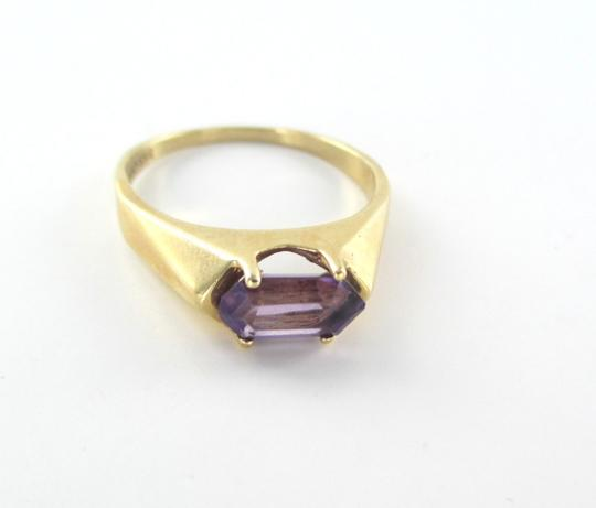 smg 14K YELLOW GOLD RING PURPLE STONE SMG DESIGNER SZ 9 WEDDING BAND ENGAGEMENT