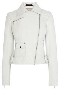 Karen Millen Leather Moto Moto Motorcycle Jacket