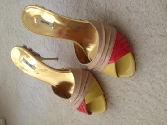 Miu Miu Coral, Beige, yellow,etc Sandals