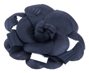 Chanel Chanel Black Camellia Flower Brooch