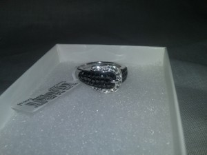 Kaleidoscope Price reduced 20%-Swarovski Crystals Sterling Silver Buckle Ring