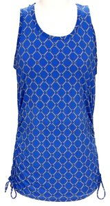 Michael by Michael Kors Signature Print Top Blue