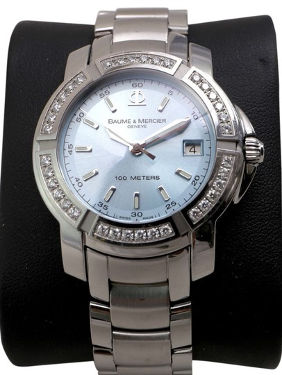Preload https://item1.tradesy.com/images/baume-and-mercier-blue-dial-stainless-steel-capeland-s-diamonds-watch-10536070-0-1.jpg?width=440&height=440