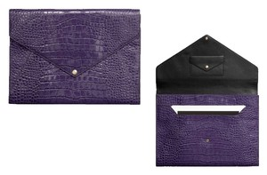 Coach Patent Leather Purple Clutch
